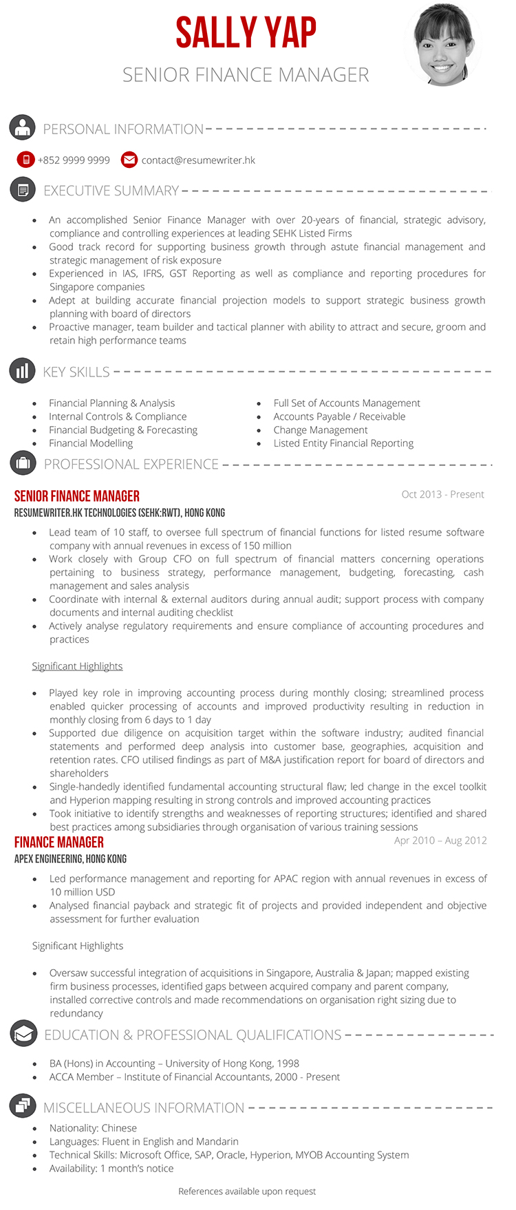Banking resume sample sample of a banking executive resume in malaysia yelopaper Choice Image