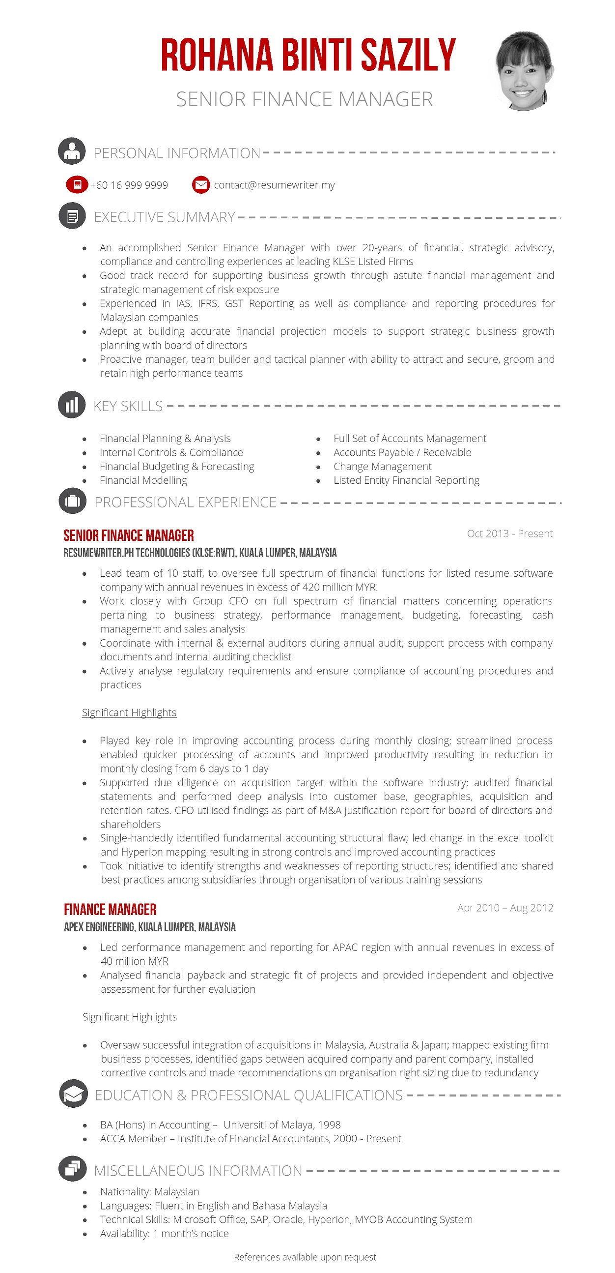 Finance_Manager_MY. Resume Header